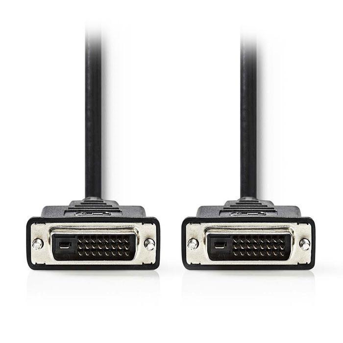 NEDIS CCGP32000BK50 DVI Cable DVI-D 24+1-Pin Male-DVI-D 24+1-Pin Male 5.0m Black