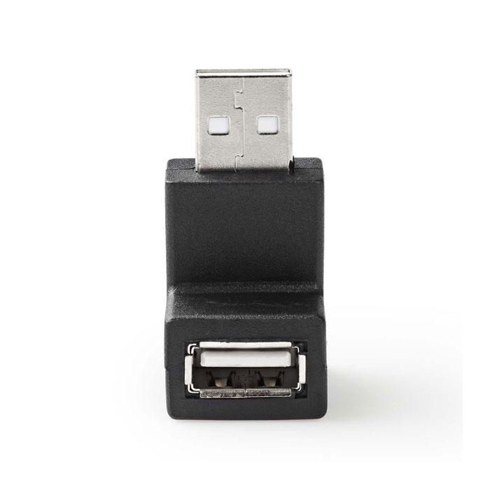 NEDIS CCGP60930BK USB 2.0 Adapter A Male - A Female 90° Angled Black
