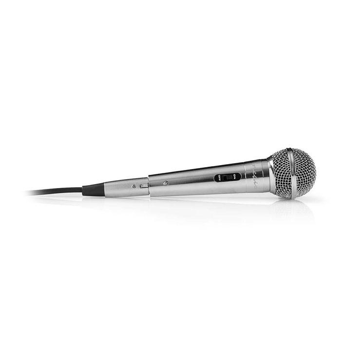 NEDIS MPWD45GY Wired Microphone -72 dB +/-3dB Sensitivity 60 Hz-14 kHz 5.0m