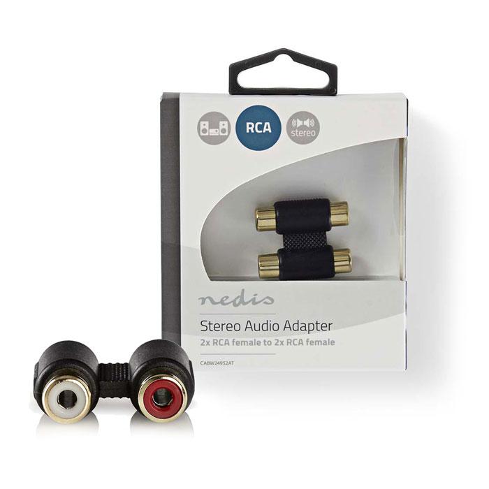 NEDIS CABW24952AT Stereo Audio Adapter 2x RCA Female-2x RCA Female