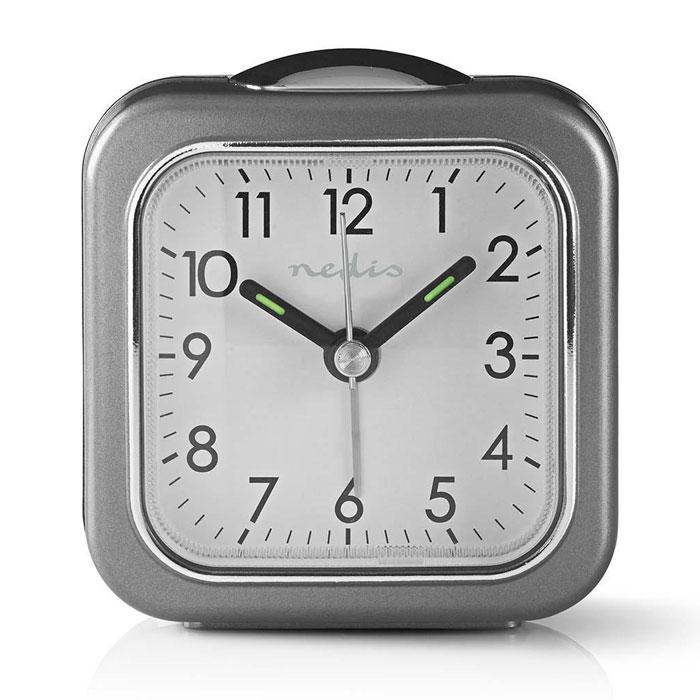NEDIS CLDK005GY Analogue Desk Alarm Clock Light Grey