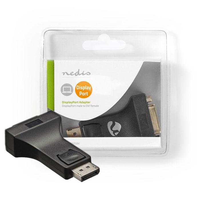 NEDIS CCGB37925BK DisplayPort-DVI Adapter DisplayPort Male-DVI-I 24+5-Pin Female