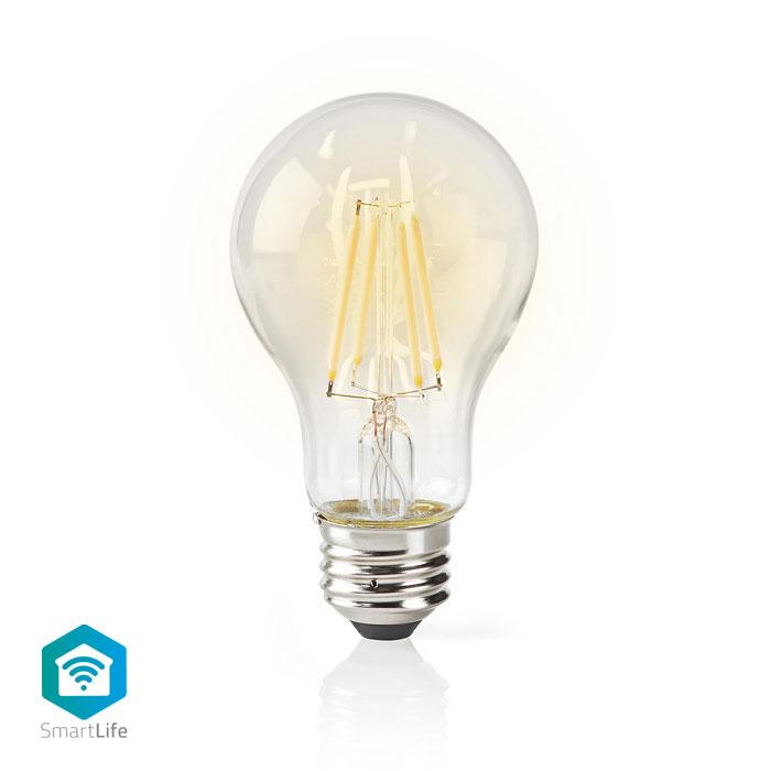 NEDIS WIFILF10WTA60 Wi-Fi Smart LED Bulb Filament E27 White A60