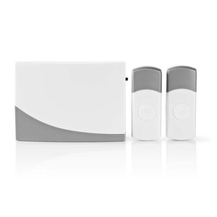 NEDIS DOORB116WT2 Wireless Doorbell Set Battery Powered 2 Transmitters
