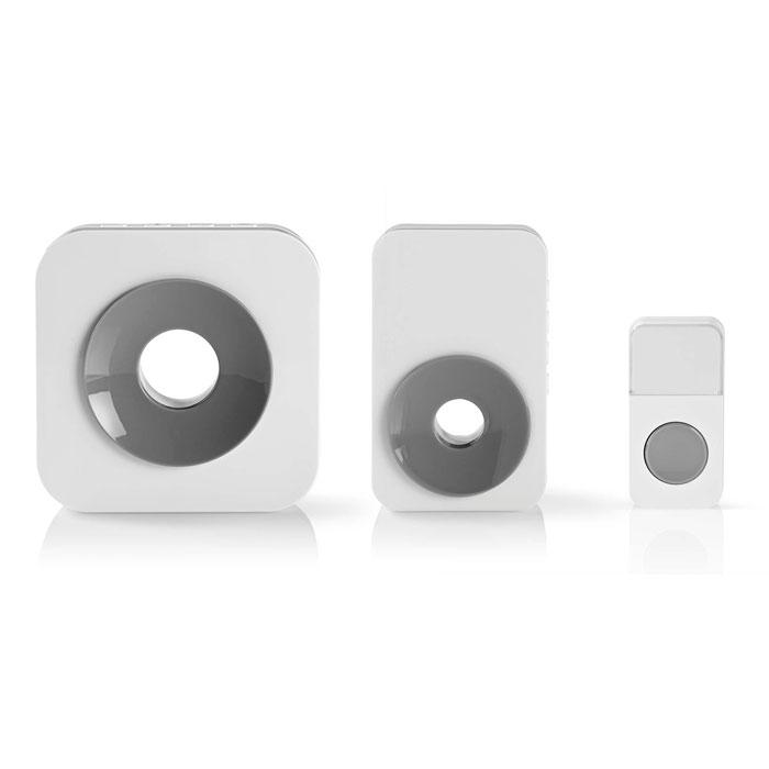NEDIS DOORB121CWT2 Wireless Doorbell Set Mains Powered 2 Receivers