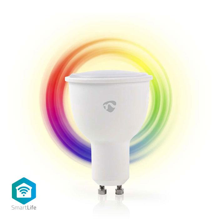 NEDIS WIFILC10WTGU10 WiFi Smart LED Bulb Full Colour and Warm White GU10