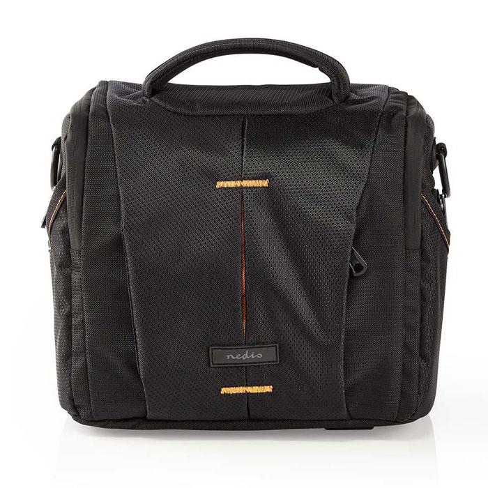 NEDIS CBAG210BK Camera Shoulder Bag 220 x 190 x 120 mm 3 Inside pockets Black/Or