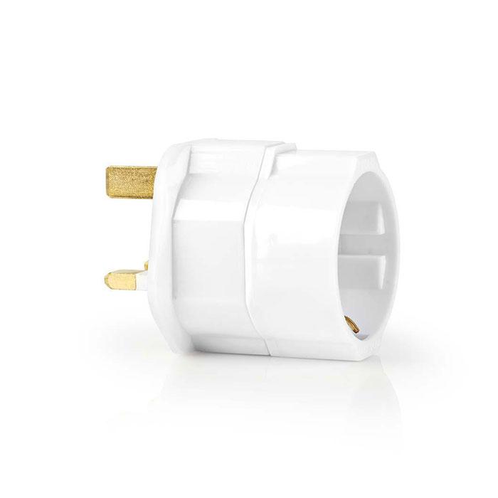 NEDIS TRAV01 Travel Adapter EU to UK White