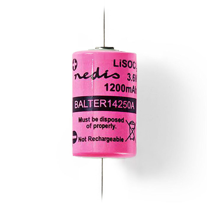 NEDIS BALTER14250A Lithium Thionyl Chloride Battery ER14250 3.6 V 1200 mAh
