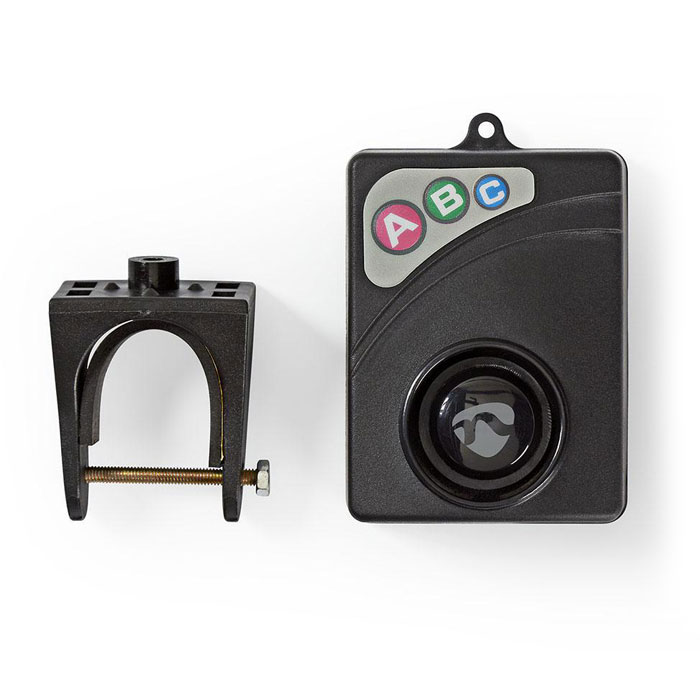 NEDIS ALRMB10BK Bicycle Alarm Adjustable Sensitivity Easy to setup Black