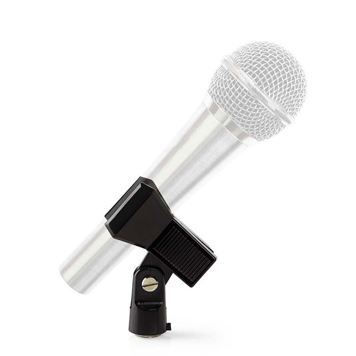 NEDIS MPCL10BK Microphone Clamp Universal 5/8 and 3/8 Screw Black
