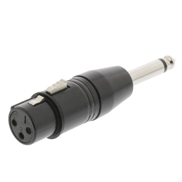 NEDIS COTP15940BK XLR Adapter Mono XLR 3-pin Female - 6.35 mm Male Black