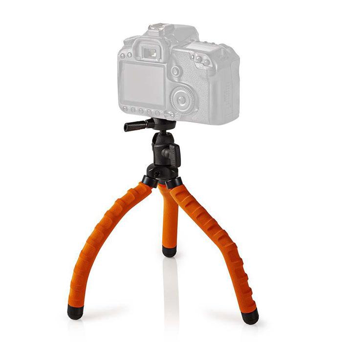 NEDIS GPOD3010BK Mini Tripod Max 1 kg 27.5 cm Flexible Black/Orange