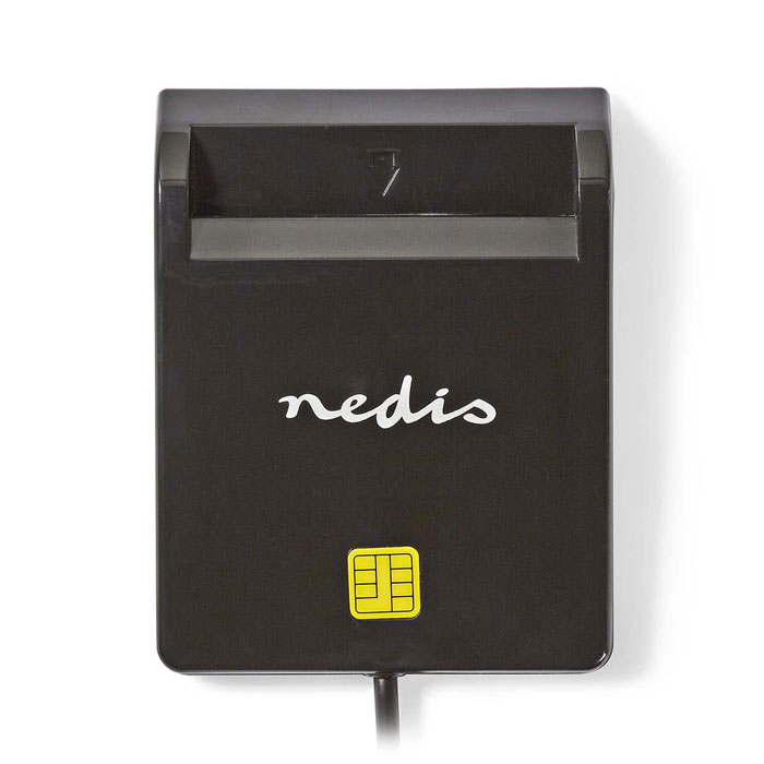 NEDIS CRDRU2SM2BK Smartcard Reader USB 2.0 Black