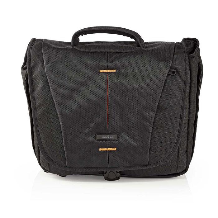 NEDIS CBAG230BK Camera Shoulder Bag 330 x 250 x 140 mm 3 Inside pockets Black/Or