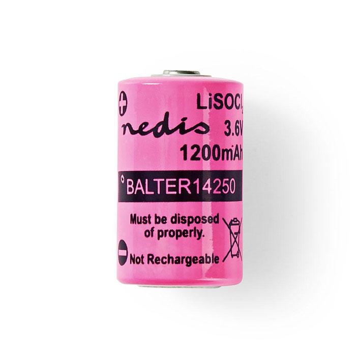 NEDIS BALTER14250 Lithium Thionyl Chloride Battery ER14250 3.6 V 1200 mAh