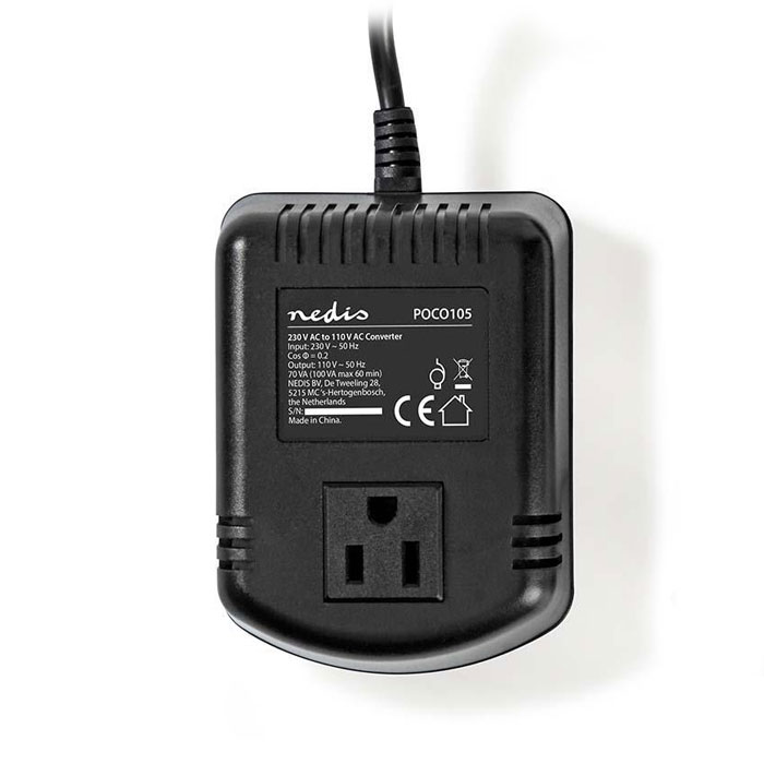 NEDIS POCO105 Power Converter 230 V AC - 110V AC 100 W Earthed USA Output