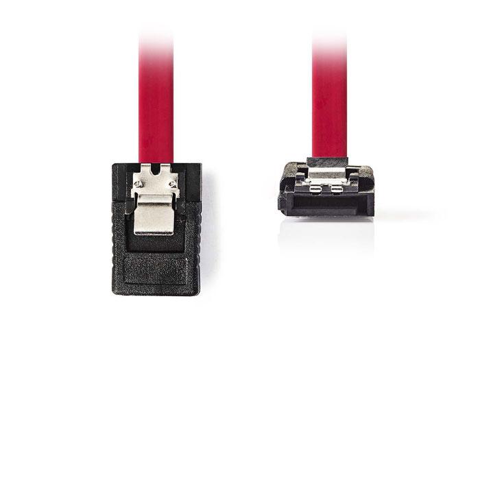 NEDIS CCGP73155RD05 SATA 3Gb/s data cable SATA 7-pin Female with Lock-SATA 7-pin