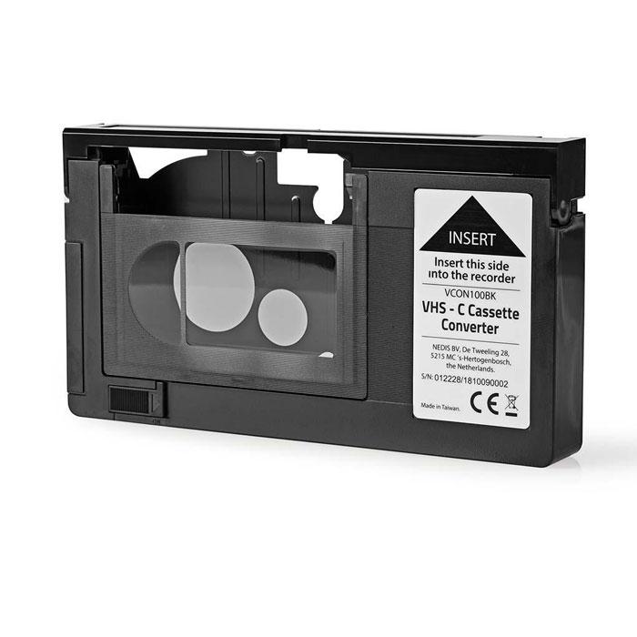 NEDIS VCON100BK VHS-C Cassette Converter VHS-C to VHS Plug and play Black