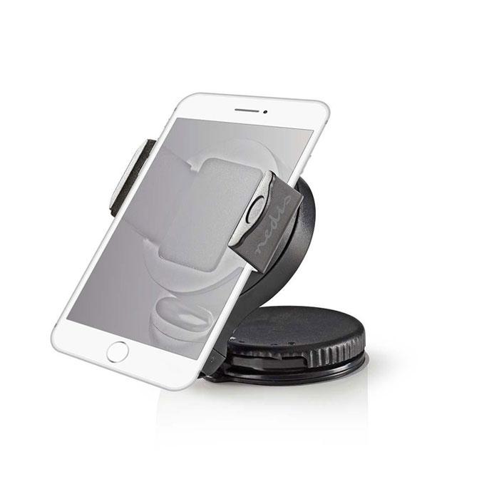 NEDIS SCMT400BK Smartphone Car Mount Suction Cup 360° Rotatable 90° Tiltable