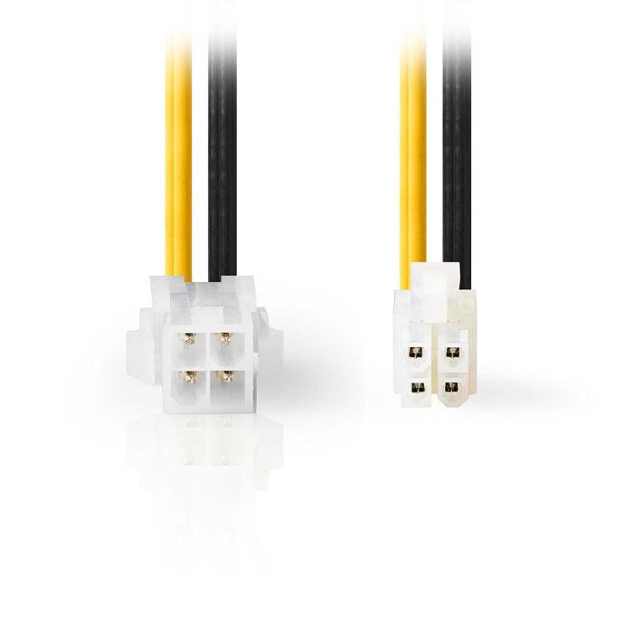 NEDIS CCGP74310VA015 Internal Power Cable P4 Male - P4 Female 0.15 m Various