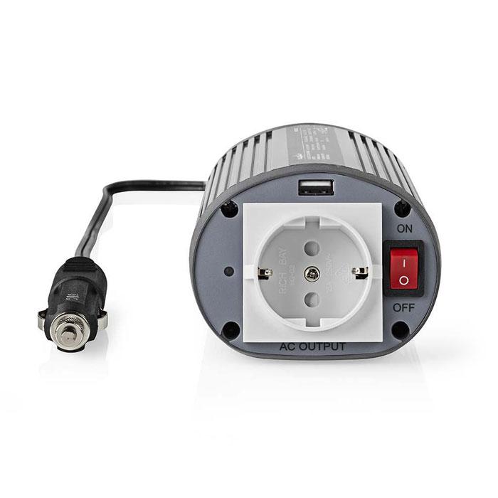 NEDIS PIMS15012 Power Inverter Modified Sine Wave 12 V DC - 230 V AC 150 W 1x Sc