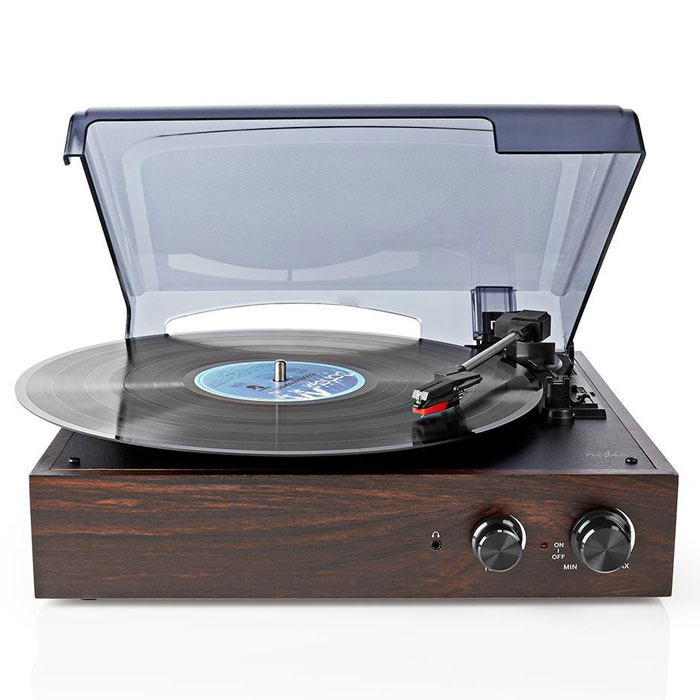 NEDIS TURN220BN Turntable 18 W PC Conversion Automatic Turn Off Dust Cover Brown