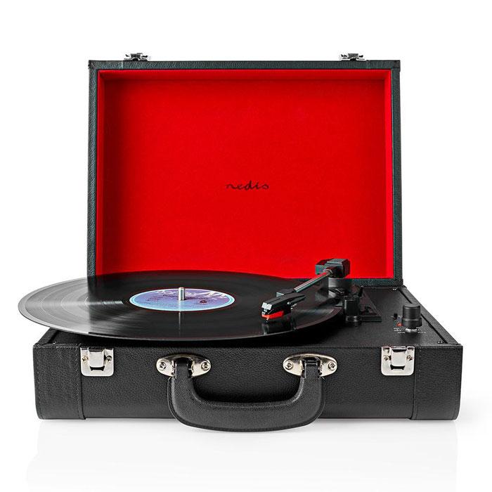 NEDIS TURN210BK Turntable 18 W Bluetooth Suitcase Black