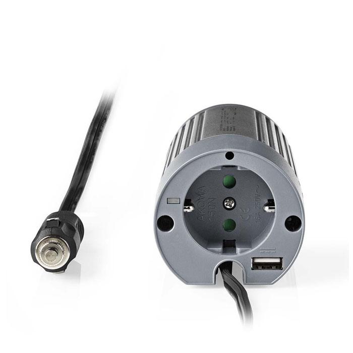 NEDIS PIMS10012 Power Inverter Modified Sine Wave 12V DC - 230V AC 100W 1x Schuk