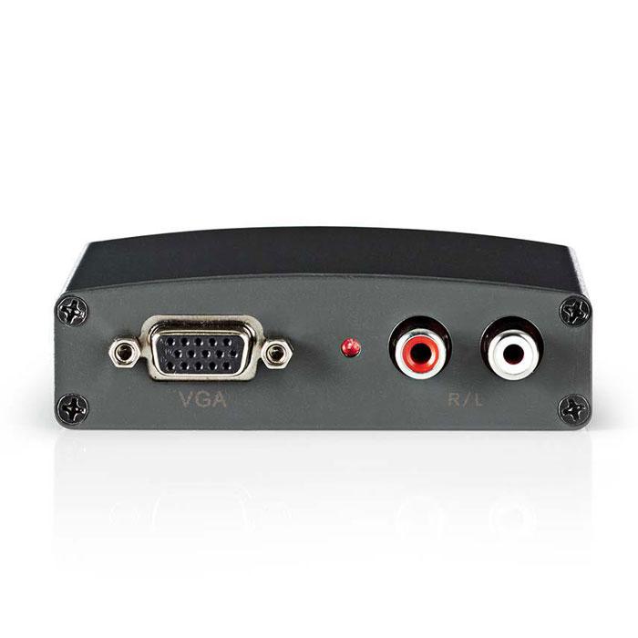 NEDIS VCON3410AT VGA to HDMI Converter 1-way - VGA + 2x RCA (L/R) Input HDMI out