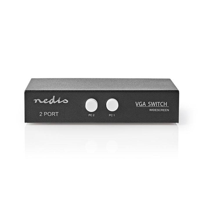NEDIS CSWI5902BK 2-Port VGA Switch Black