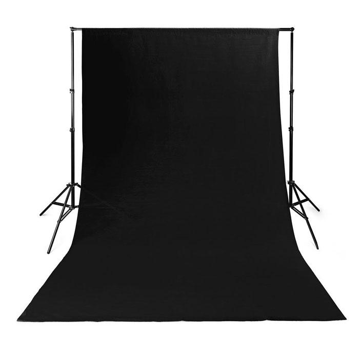 NEDIS BDRP33BK Photo Studio Backdrop 2.95 x 2.95 m Black