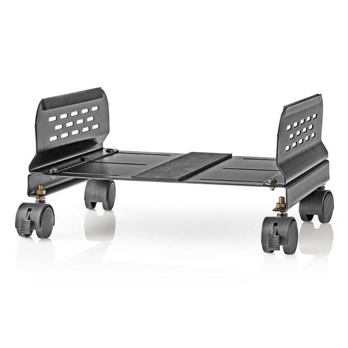 NEDIS ERGOCSTD200BK Computer Trolley Adjustable Width 4 Caster Wheels Black