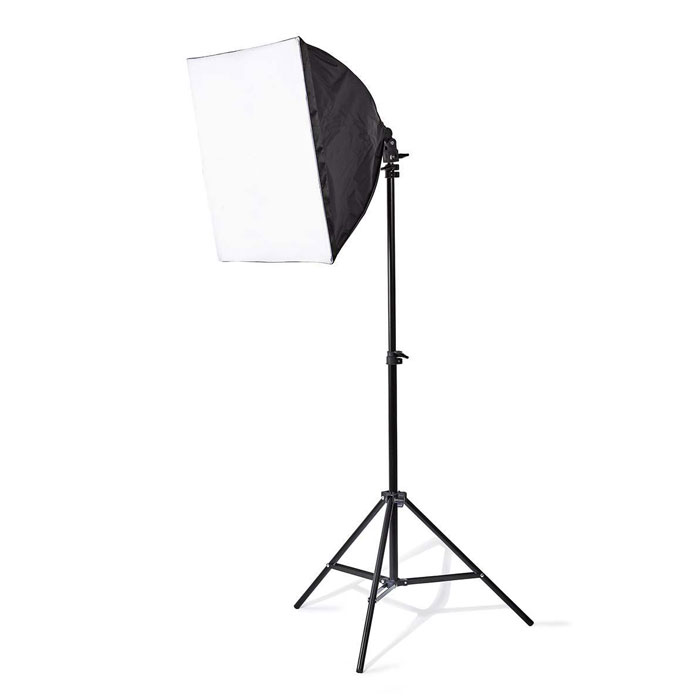 NEDIS SLKT10BK Photo Studio Light Kit 2x 70 W 5500 K 180 cm height Foldable