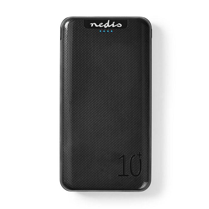 NEDIS UPBK10002BK Powerbank 10,000 mAh 3-Outputs 3.0/2.1/1.0 A USB-C/Micro USB I