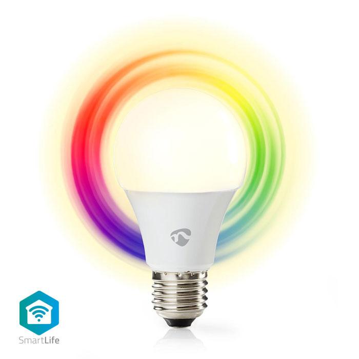 NEDIS WIFILC11WTE27 WiFi Smart RGB LED Bulb Full Colour and Warm White E27