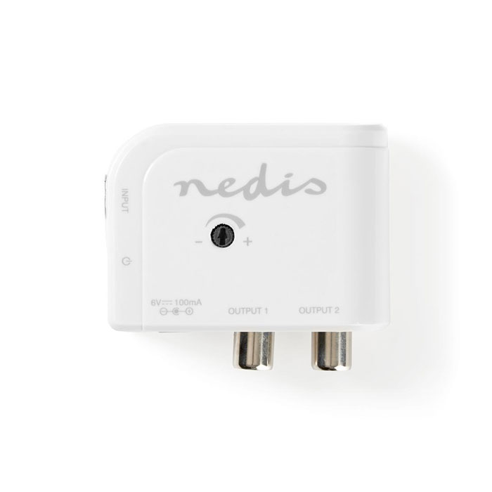 NEDIS SAMP40020WT CATV Amplifier Max. 15 dB Gain 50 - 790 MHz 2 Outputs IEC