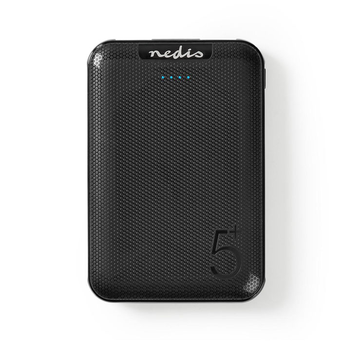 NEDIS UPBK5002BK Powerbank 5000 mAh 2 USB-A Outputs 1.0 A Micro USB Input Black