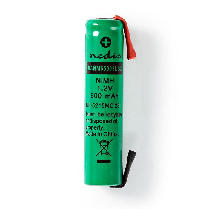 NEDIS BANM65003USC Nickel-Metal Hydride Battery 1.2 V 600 mAh AAA Solder Connect
