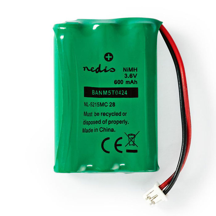 NEDIS BANM5T0424 Nickel-Metal Hydride Battery 3.6 V 600 mAh Wired Connector