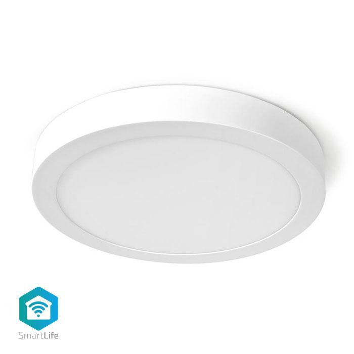 NEDIS WIFILAW20WT Wi-Fi Smart Ceiling Light Round 30cm Warm to Cool White 1200m