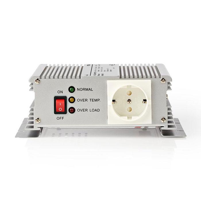 NEDIS PIMS600W12 Power Inverter Modified Sine Wave 12 VDC - 230 V AC 600W 1x Sch