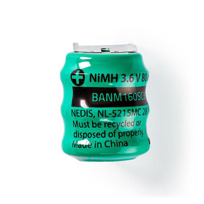 NEDIS BANM160SC3 Nickel-Metal Hydride Battery 3.6 V 80 mAh Solder Connector