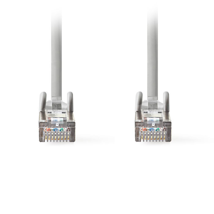 NEDIS CCGT85320GY100 Network Cable CAT6a SF/UTP RJ45 Male RJ45 Male 10.0 m Grey