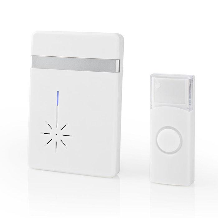 NEDIS DOORB212WT Wireless Doorbell Set Battery Powered 36 Melodies