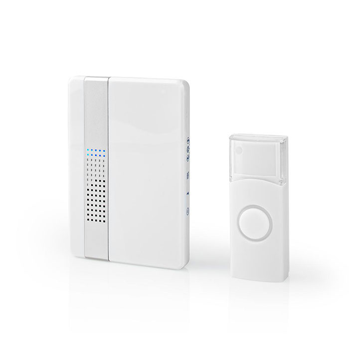 NEDIS DOORB223CWT Wireless Doorbell Set Mains Powered 36 Melodies
