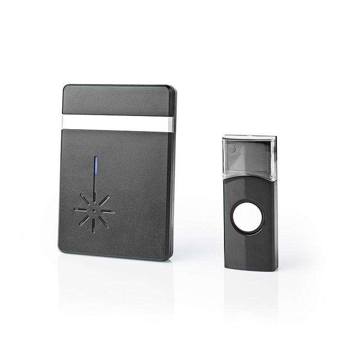 NEDIS DOORB212BK Wireless Doorbell Set Battery Powered 36 Melodies