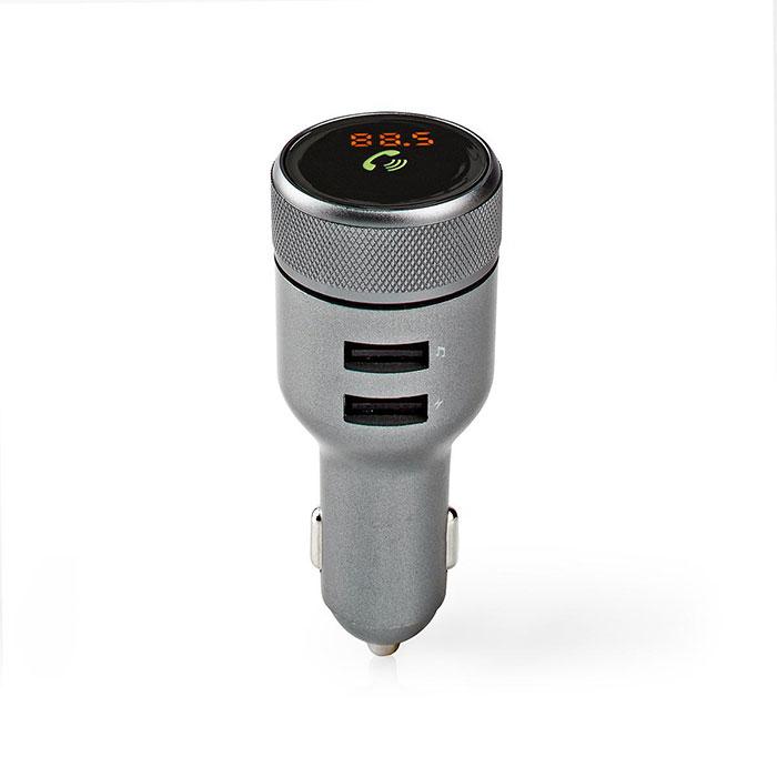 NEDIS CATR122BK Car FM Transmitter Bluetooth Hands-Free Calling 2x USB