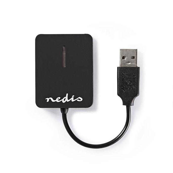 NEDIS CRDRU2300BK Card Reader Multicard USB 2.0