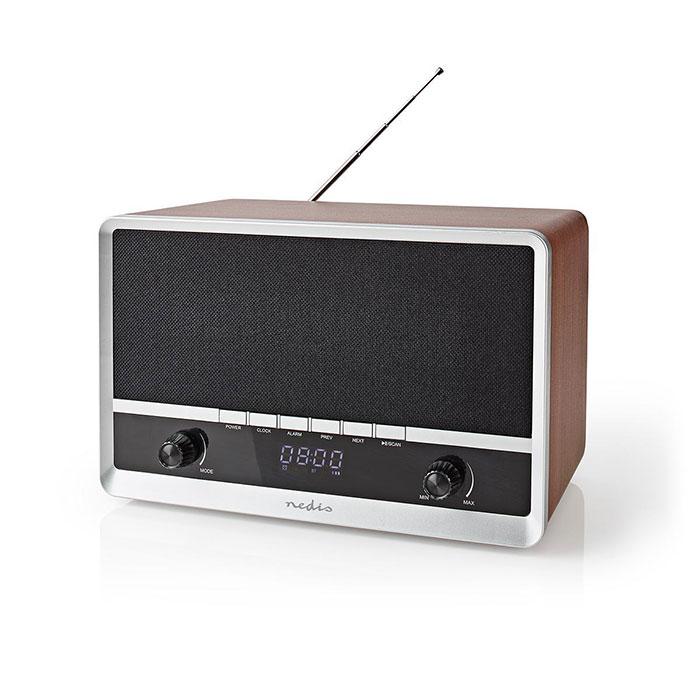 NEDIS RDFM5200BN FM Radio Table Design AM/FM Battery Powered/USB Powered Digital